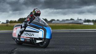 La Voxan Wattman eléctrica que intentará alcanzar los 330 km/h.