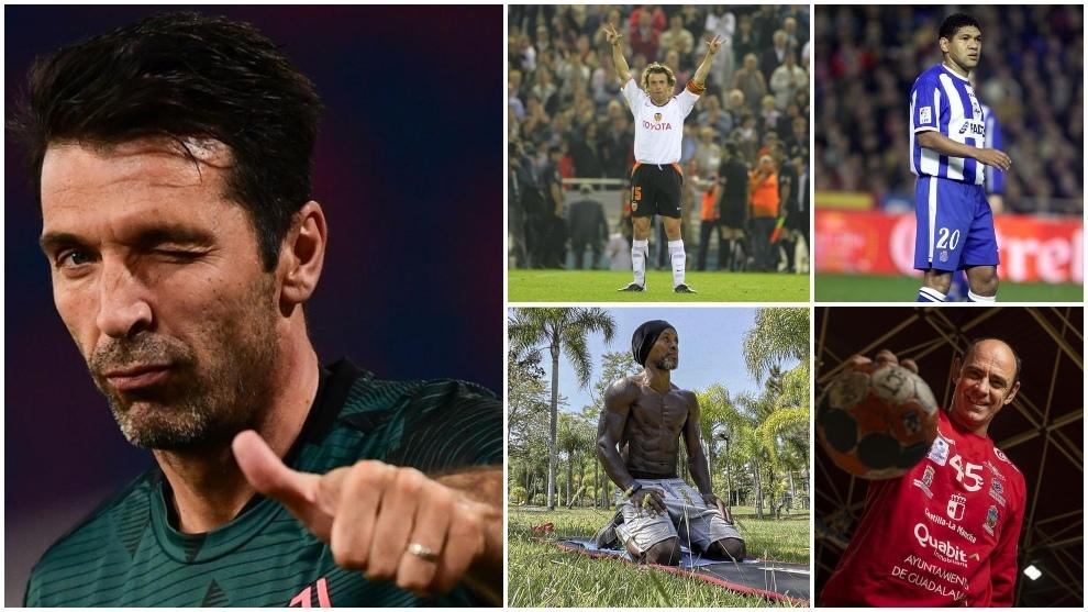 Buffon, Carboni, Ze Roberto. Donato y Hombrados, todos ellos en la...