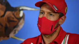 Sebastian Vettel, en la rueda de prensa del circuito Red Bull Ring