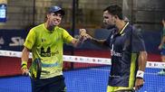 Paquito Navarro y Pablo Lima, tras ganar su partido.