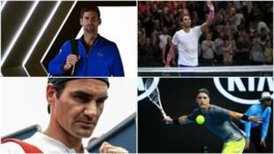 Djokovic, Nadal, Federer y Harris