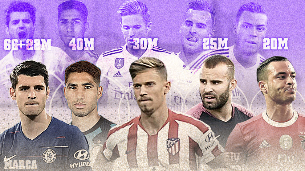 Morata, Achraf, Marcos Llorente, Jese and De Tomas