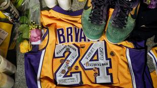 Homenaje a Kobe Bryant tras su muerte.