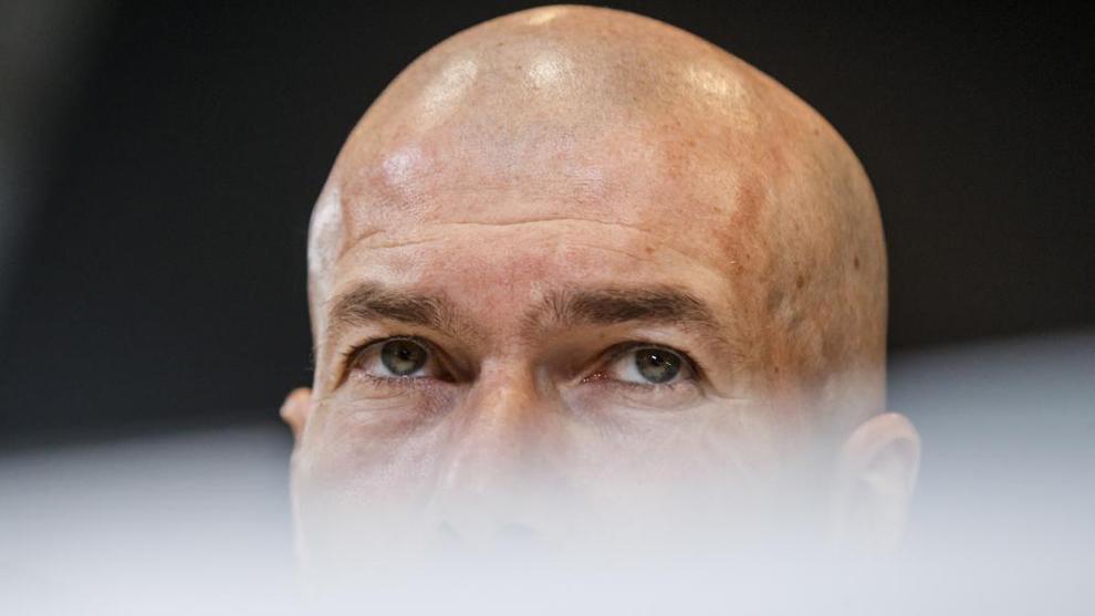 Zidane, en una rueda de prensa