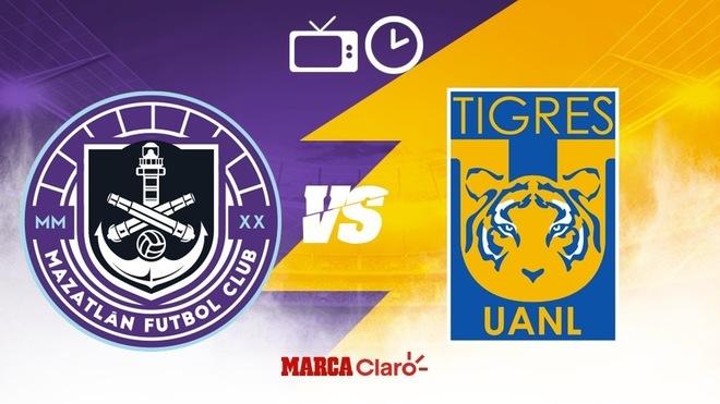 Mazatlán FC vs Tigres: Horario y dónde ver