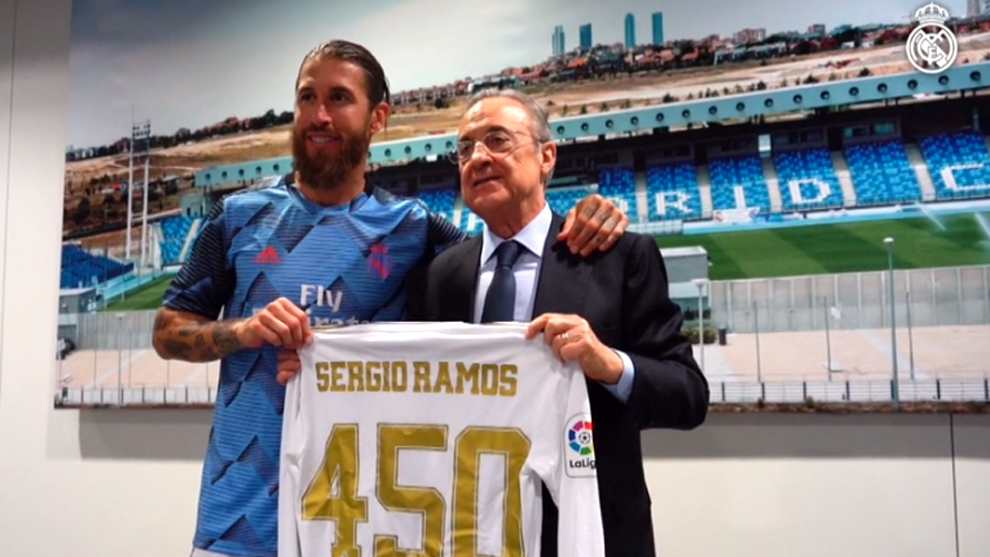 Ramos celebrates his 450th LaLiga match in style