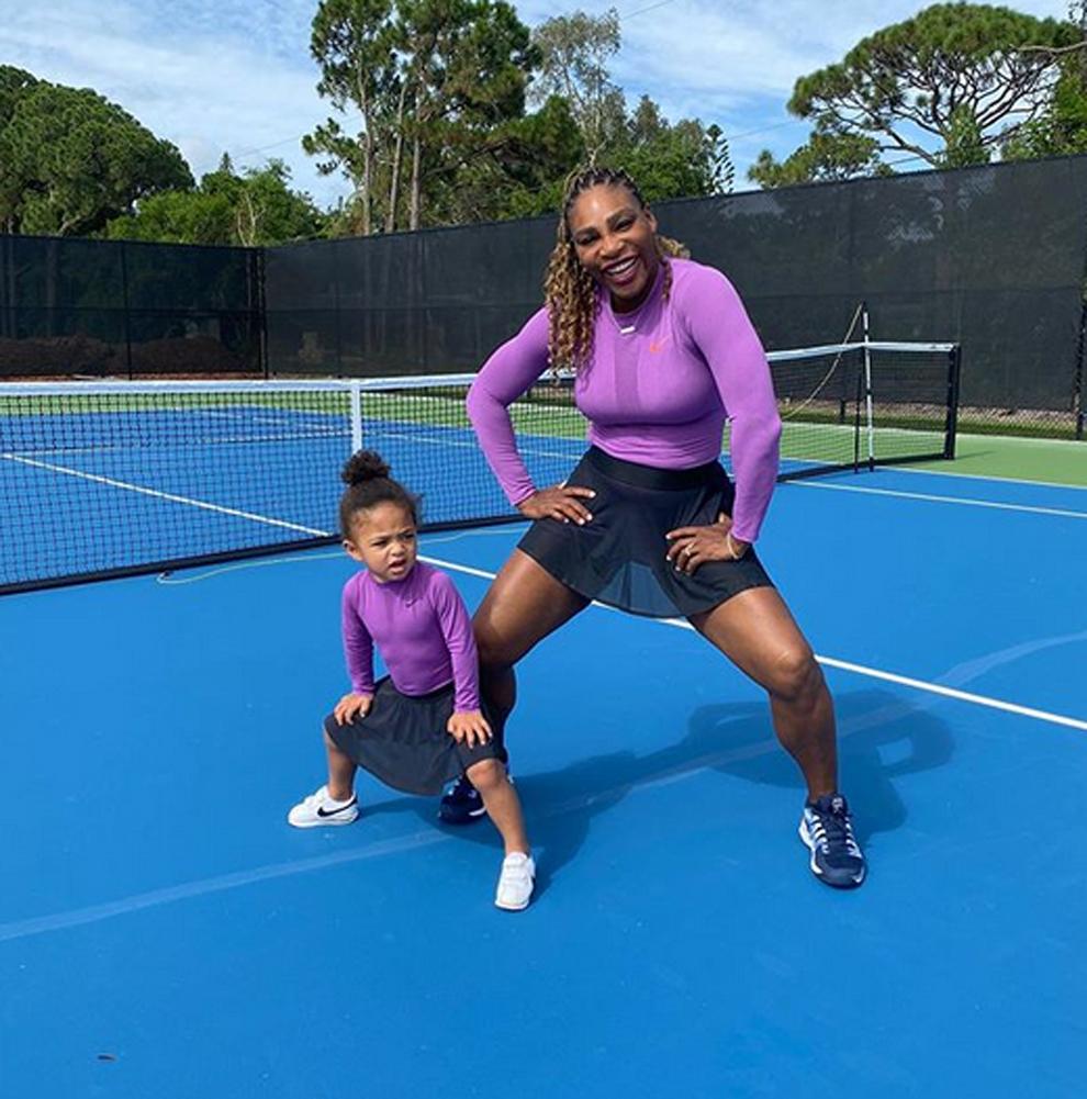Serena Williams (38 años) y su hija Alexis Olympia (2 años)