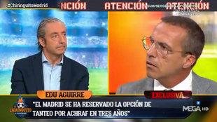 Ni lo vio venir:  'zasca' de Pedrerol a Cristobal Soria a cuenta de Achraf, Mariano... ¡y su Sevilla!