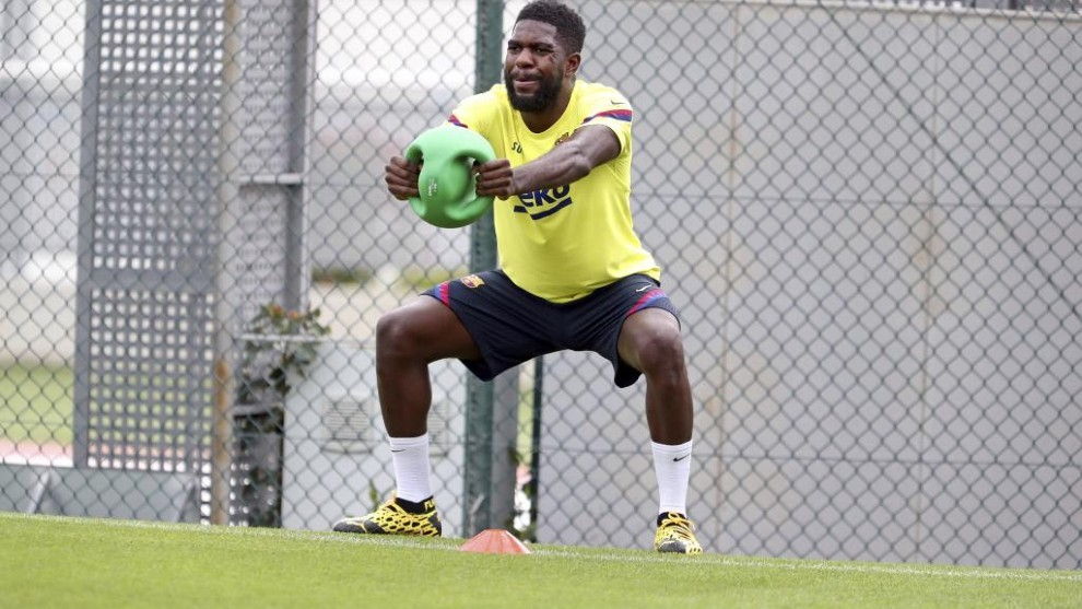 Injury rules Umtiti out of Villarreal trip