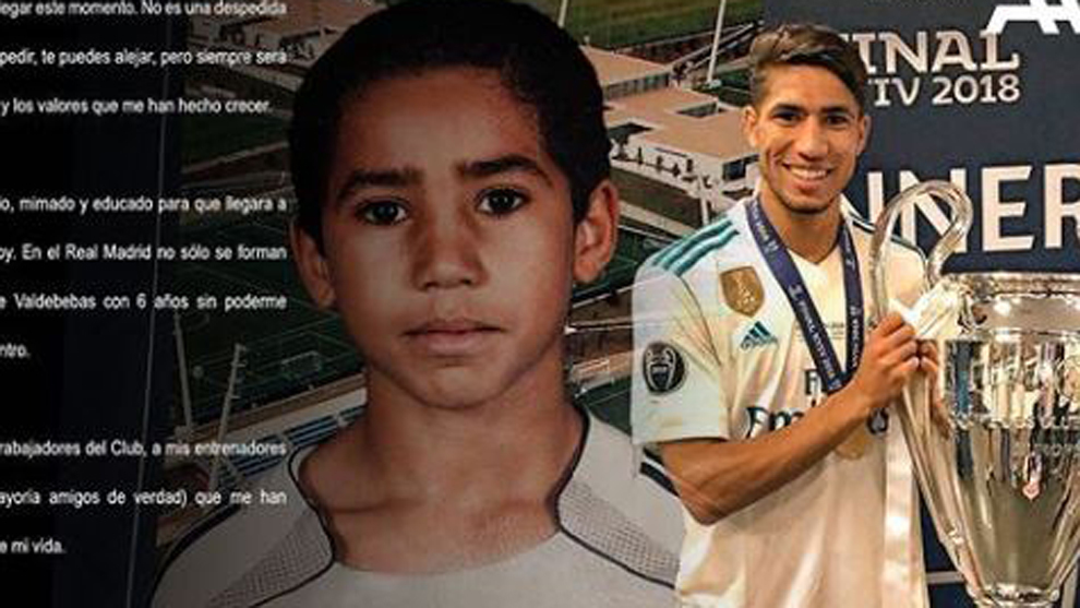 Achraf Hakimi's emotional message: This isn't a goodbye
