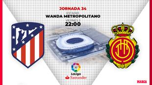 Atlético de Madrid - Mallorca | Viernes 3 de julio | 22:00 horas.