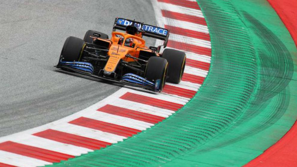 Carlos Sainz, durante los Libres 1 del Gran Premio de Austria.