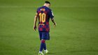 Messi, durante el partido contra el Atlético.