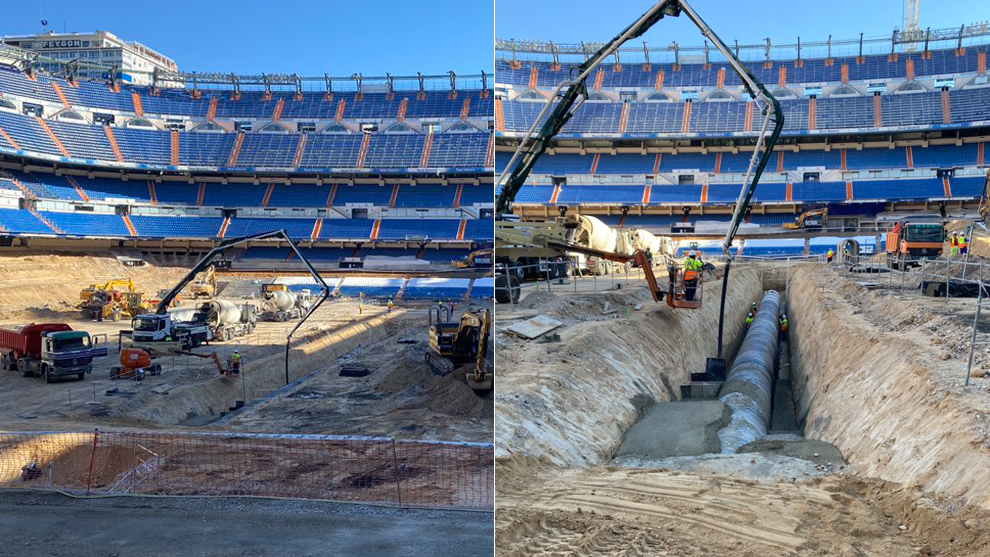Work continues at Estadio Santiago Bernabeu