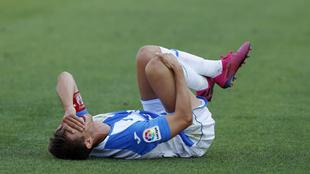 Szymanowski tras lesionarse de la rodilla frente al Alcorcón.