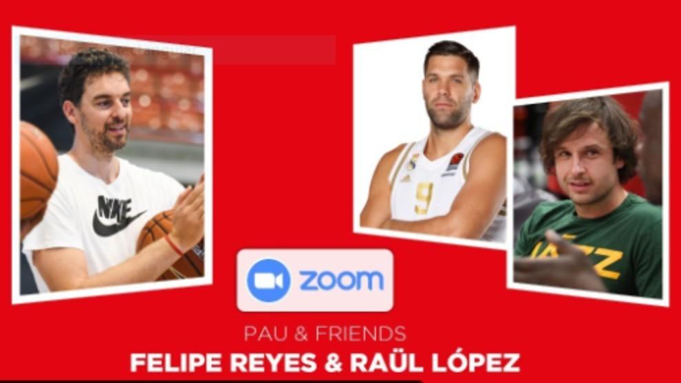 La charla más entrañable entre Pau Gasol, Felipe Reyes y Raúl López
