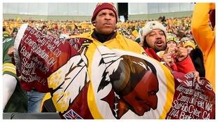 Hinchas de los Redskins de Washington esta temporada.