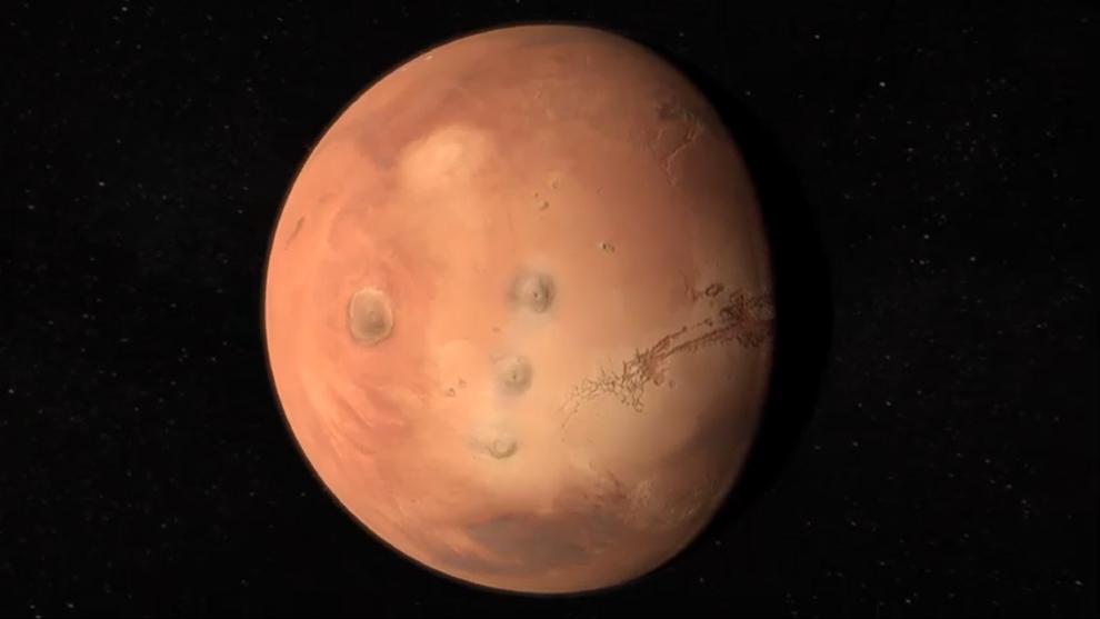Recorre Marte mediante un video de la ESA