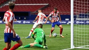 Morata marca el segundo gol.