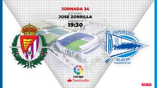 Valladolid - Alaves: horario y donde ver por television hoy el partido...