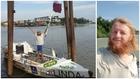 Dos años para remar de Sudamérica a Asia y sigue en el bote por el coronavirus