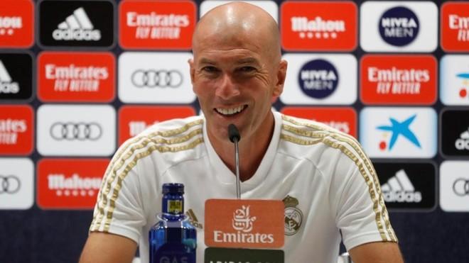 Zidane, durate una rueda de prensa en Valdebebas