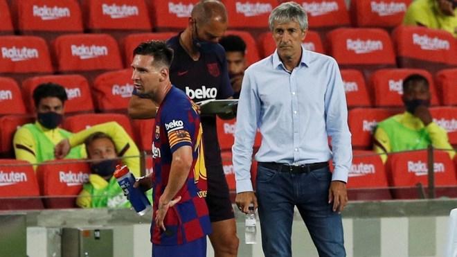 El entrenador de los catalanes afirma que el argentino se encuentra...