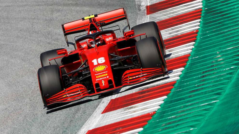 Charles Leclerc, durante la clasificación del Gran Premio de Austria.