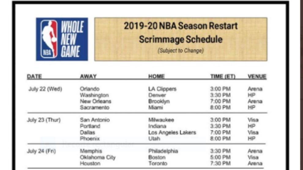 Oficial: La NBA anuncia los días y horarios de los partidos de pretemporada en Orlando