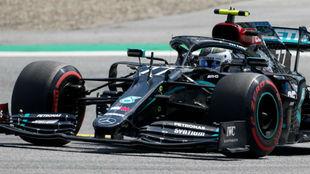 Valtteri Bottas, durante la clasificación del GP de Austria.