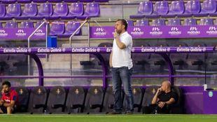 Sergio, durante el partido ante el Alavés.