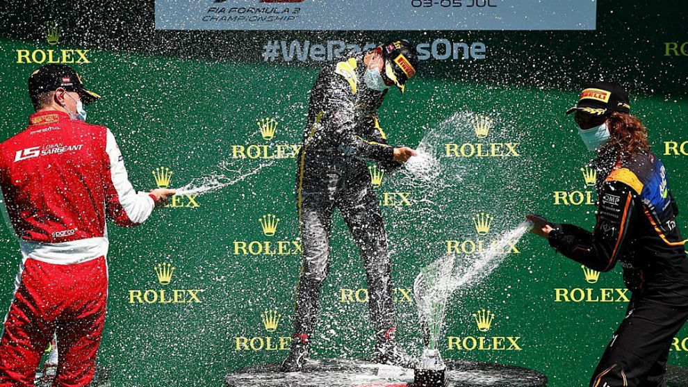 El podio de la F3 en el Gran Premio de Austria.