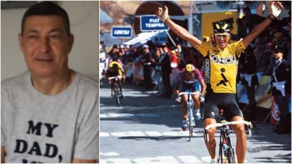 Eduardo Chozas en el hospital y celebrando un triunfo durante su...