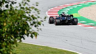 Lewis Hamilton, durante la clasificación del Gran Premio de Austria