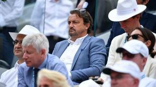 Leconte, en la grada de Roland Garros