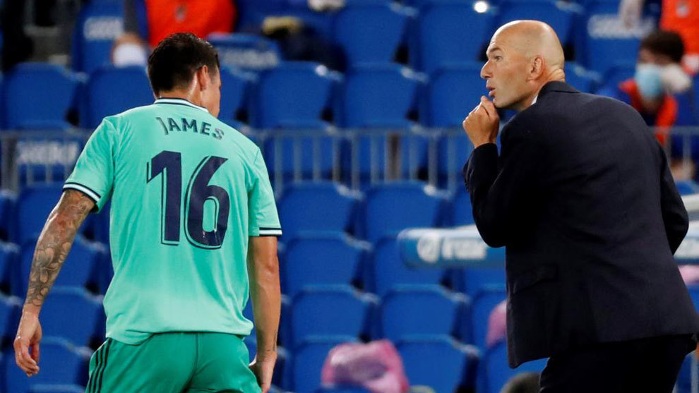Zidane on James' absence at San Mames: He asked not to travel