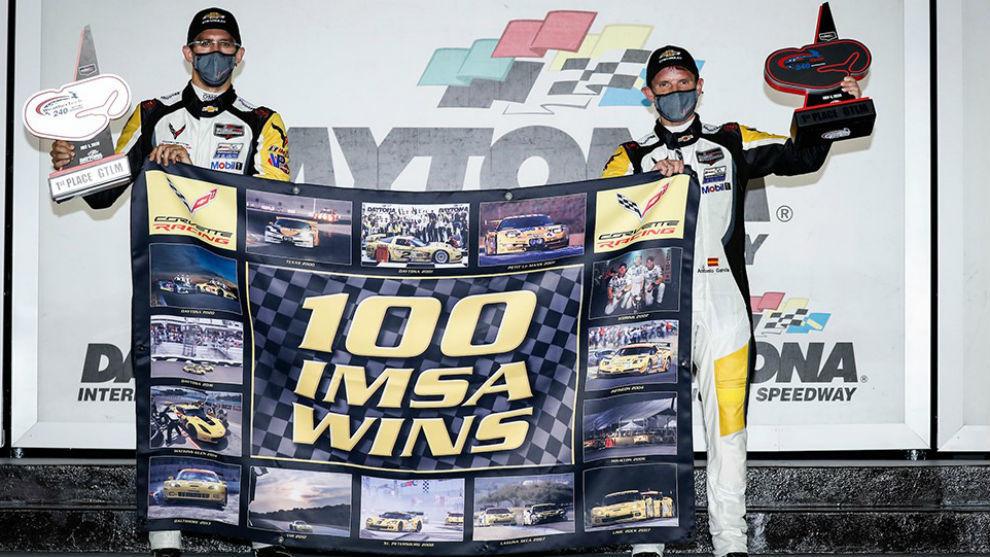 Antonio García le da a Corvette su victoria número 100 en el IMSA.