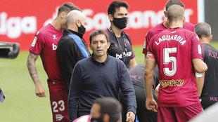 Asier Garitano, en un partido con el Alavés.