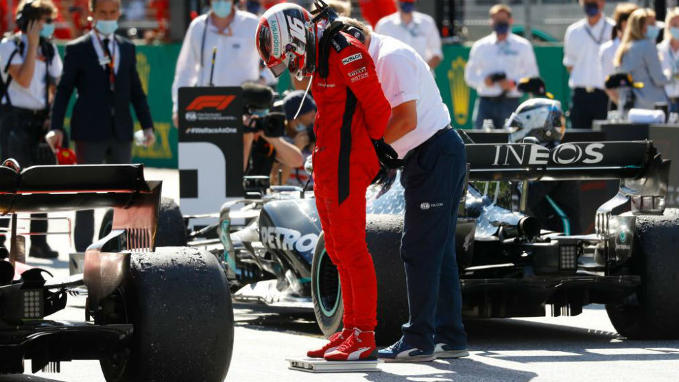 Charles Leclerc, al terminar la carrera del Gran Premio de Austria.
