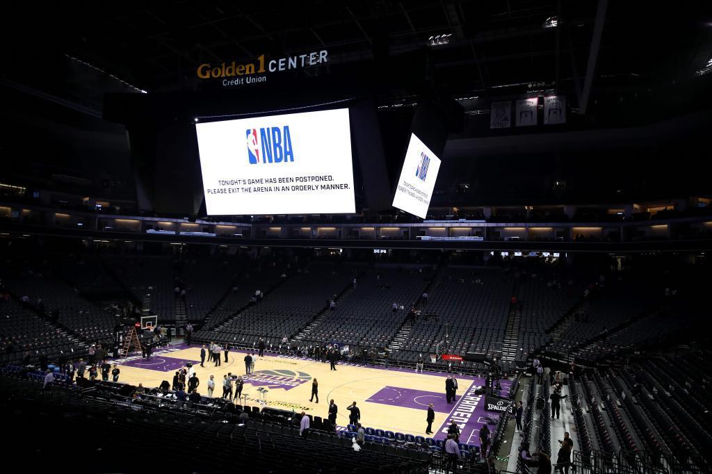 El Golden 1 Center, cancha de los Kings, el día que se suspendió el...