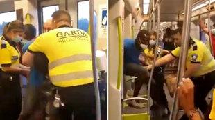 """No es Mineápolis, es el metro de Valencia: """"¡Soltadle el cuello!"""""""