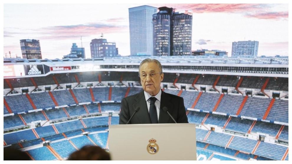 Florentino Pérez, durante un acto del Real Madrid.