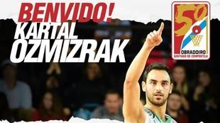 Así dio la bienvenida el Obradoiro a Ozmizrak en sus redes sociales.