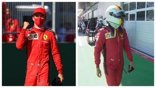 Leclerc y Vettel.