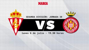 Sporting - Girona: horario y donde ver por television hoy el partido...