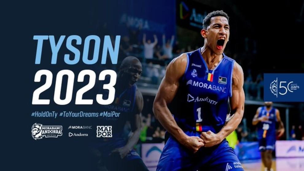 Tyson Pérez amplía su contrato con el MoraBanc Andorra