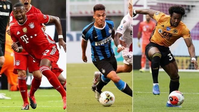 Alaba, Adama Traoré y Lautaro Martínez son algunos nombres del...