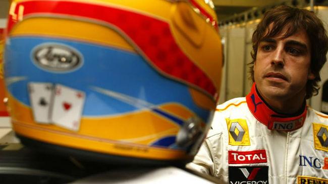Fernando Alonso, durante la temporada 2009, la última con Renault.