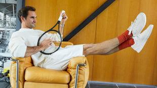 Federer, en el anuncio de su marca de calzado
