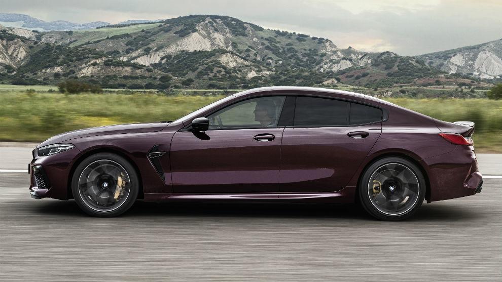 Tiene una distancia entre ejes 200 mm más larga que en los modelos de dos puertas del BMW M8.